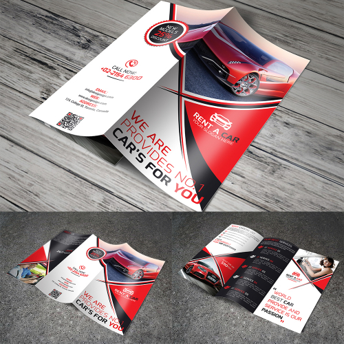 Rent A Car Tri-fold Brochure