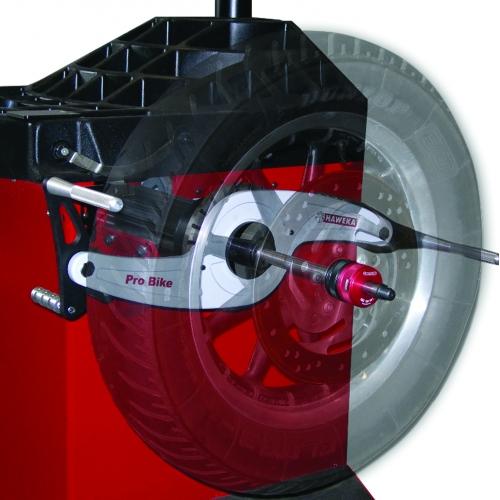 Photo Edited Wheel on a Wheel Balancer