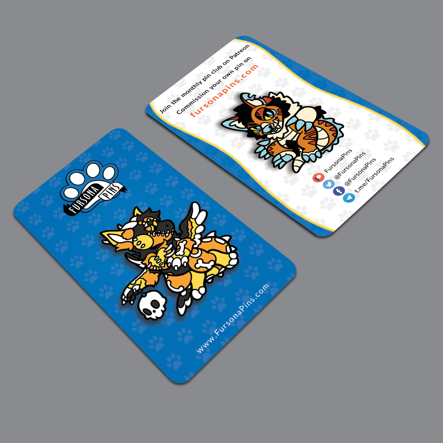Fursona Pins Business Card