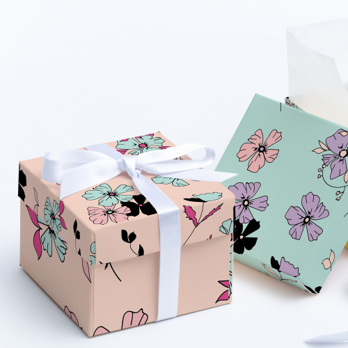 Hand drawn Floral Pattern Packaging Design
