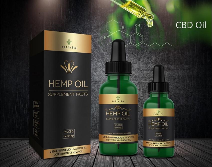 CBD oil label