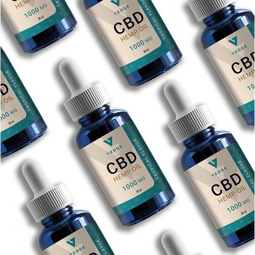 CBD hemp oil label