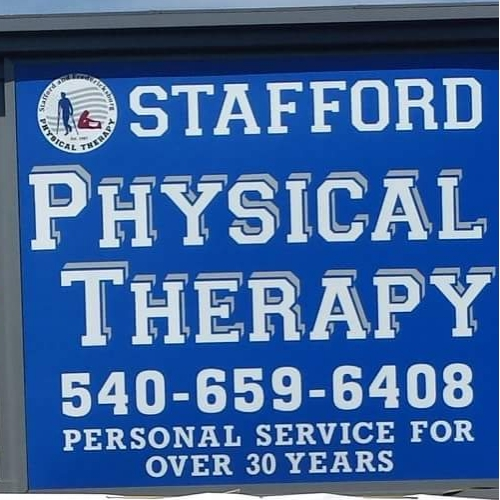 Street sign for Stafford Physical Therapy
