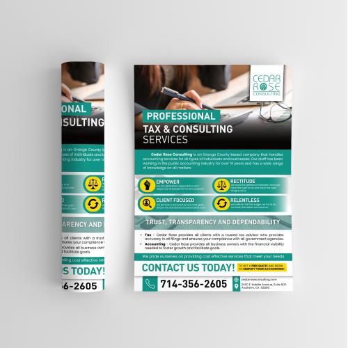 Flyer Design - Cedar Rose Consulting