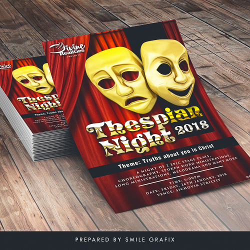 Thespian Night 2018 flyer