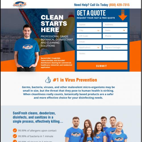 Website UI Design for SaniFresh