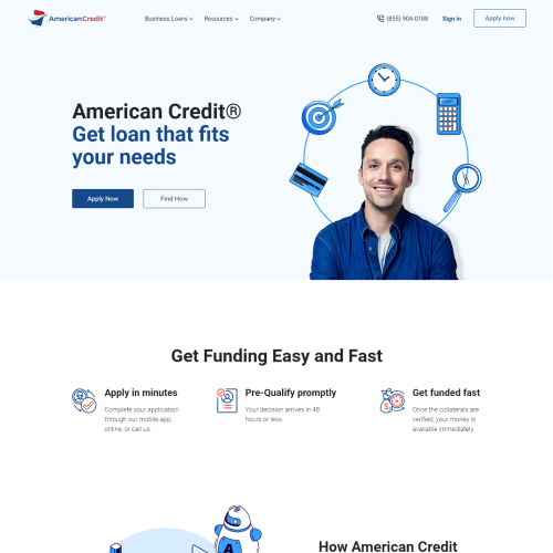 Website UI Design for AmericanCredit