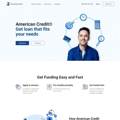 Website UI Design for AmericanCredit