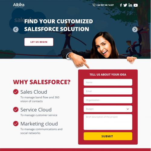 Website UI Design for Albira