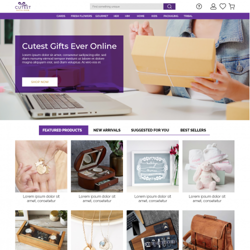Website UI Design for Cutest Gift