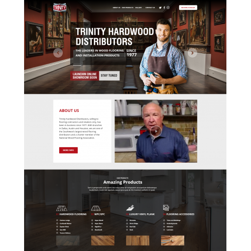 Website Design for Hardwood Distributors