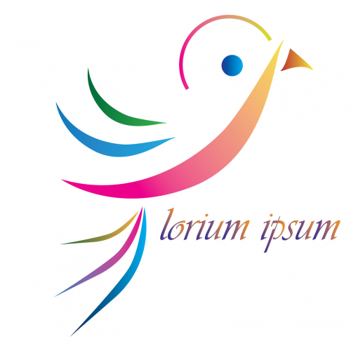 colorful bird logo for start ups