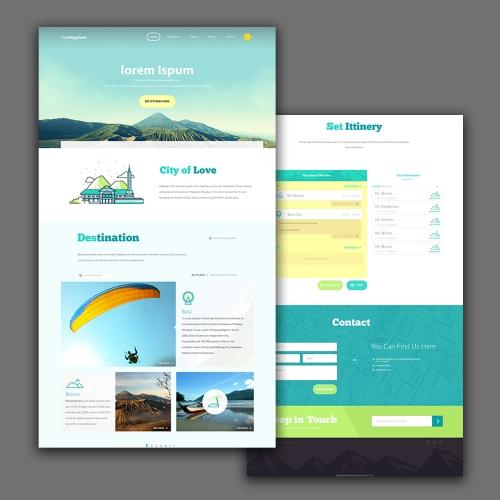 Simple web site design