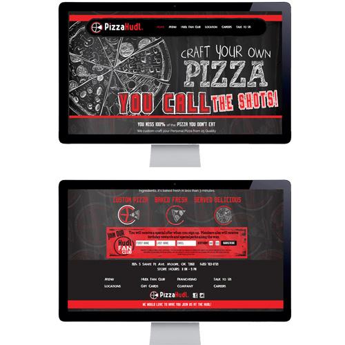 PIZZA HUDL WEBSITE DESIGN