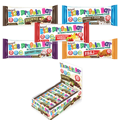 KIDS PROTEIN BAR PACKAGE AND POP DISPLAY