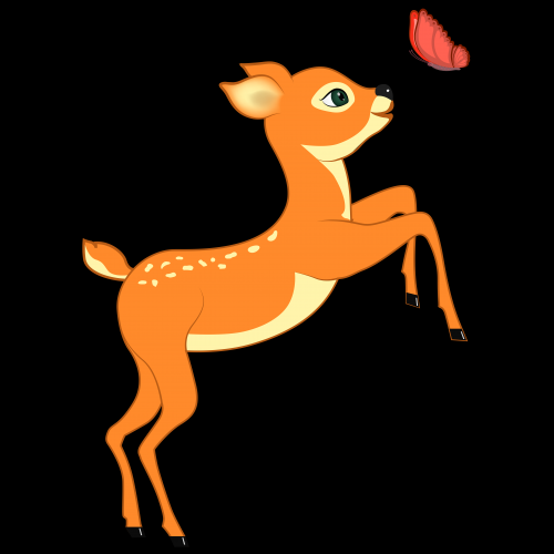 Baby Deer and butterfly