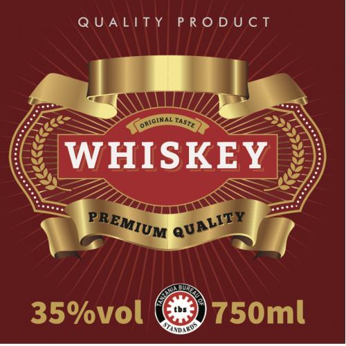 Whisky Label.
