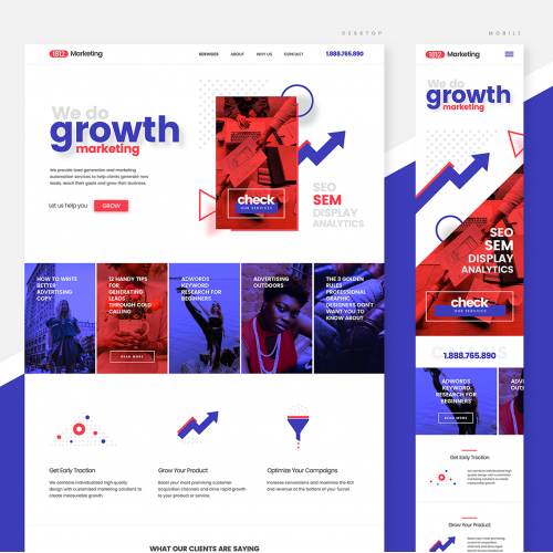 Web Design and Development for Growth Marketing Company