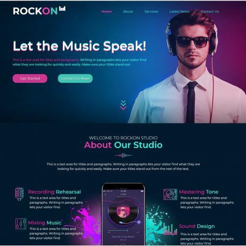 rock on template Design