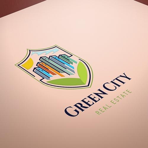 Green City real estat logo for sale