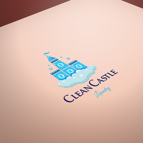 Clean Castle Laundry Logo for Sale