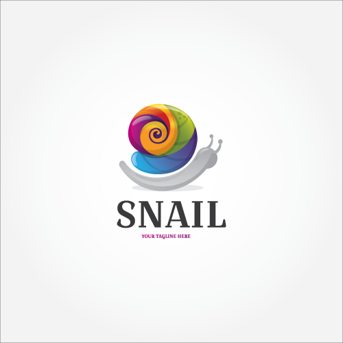 Snail Colorful 3D Logo Design for sale