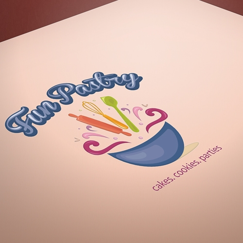 Fun bakery logo design for sale