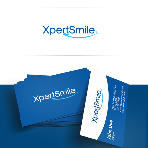 XpertSmile logo and business card design