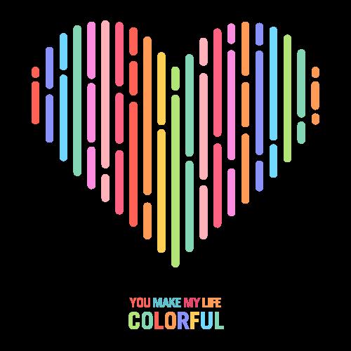 Colorful Love - Valentine Design
