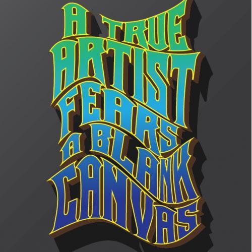 A True Artist Typography