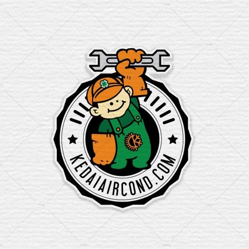 KedaiAircond Logo Design