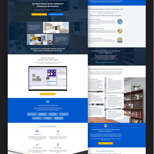 Landing pages for furniture app