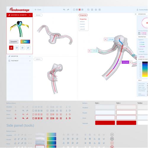 UX/UI for surgical computational platform
