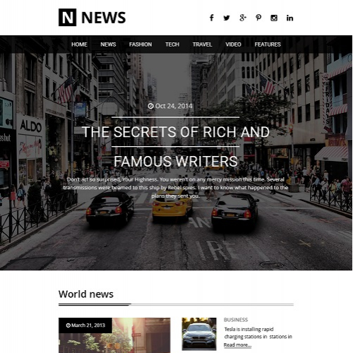 News Agency Website Design