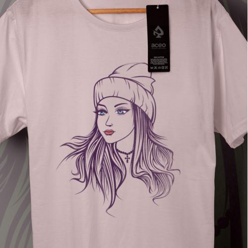 t-shirt design illustration fashion woman