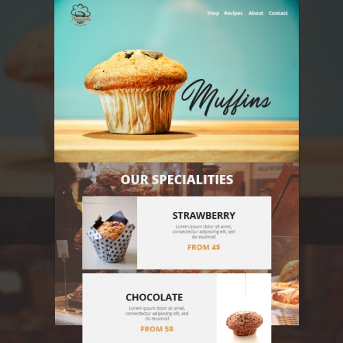 Bakery Landing Page