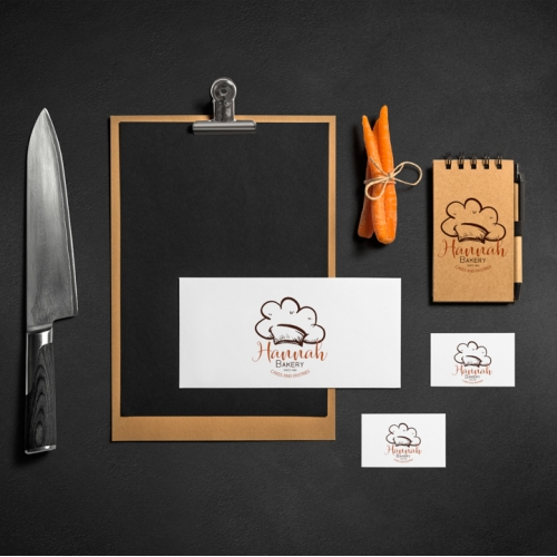 Hannah Bakery Stationary Design