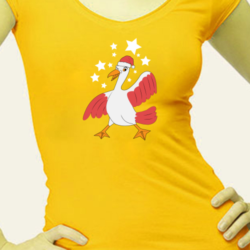 Junior women T-shirt print design