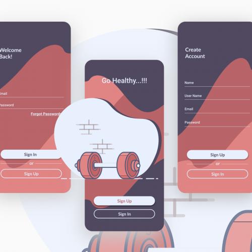 Go Healthy...!!! App design UI/UX