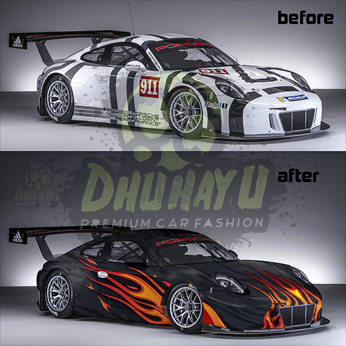 wrapping car