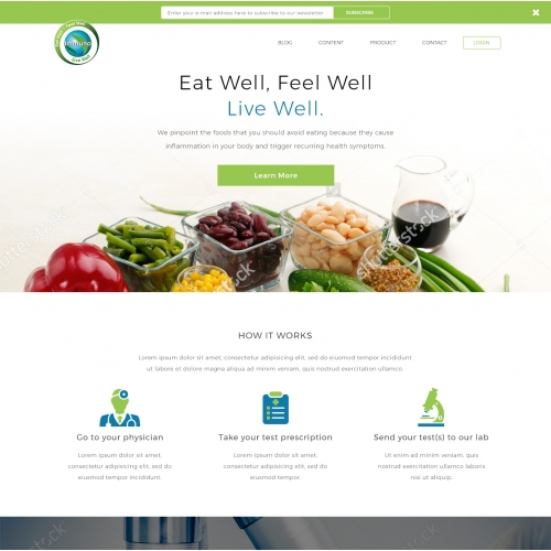 Website for a medical laboratory