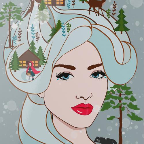 Winter Queen vector illustration