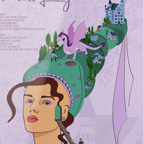 Princess fairy tale vector illustration