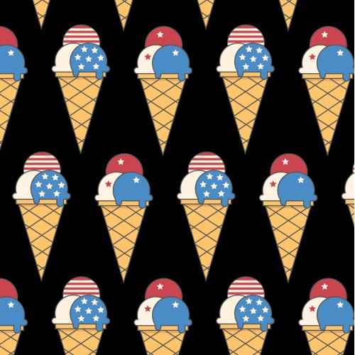 American ice cream pattern