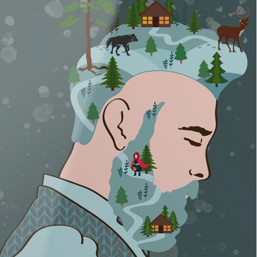Winter Man vector illustration