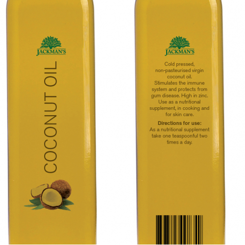 Coconut Oil label