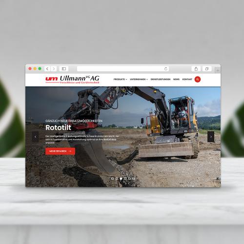UllmannVG AG - Website Design