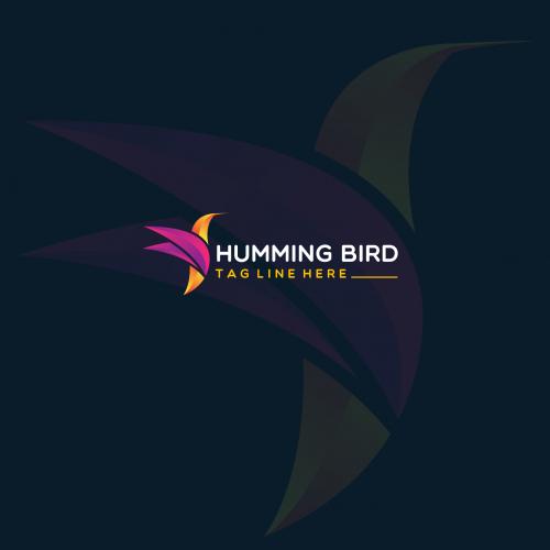 Humming bird logo design