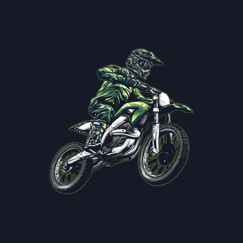 Motocross Ilustration