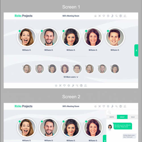 UI Design for video chat app